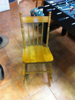 Solid wood kids size rocking chair