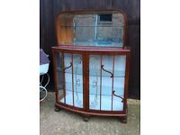 Funky glass display cabinet