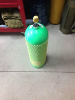 3000 PSI Scuba tank with HPA paintball fill station