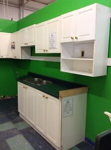 Kitchen with uppers and lowers