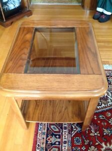 Family Room Furniture  - Oak & Glass End and Coffee Tables