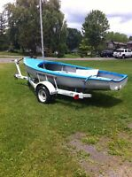 Albacore sailboat and trailer
