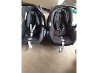 2 x Maxi Cosi Car Seats