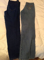 dress pants and jeans