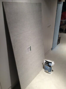 Cement Board and Grout
