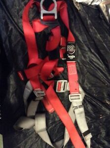 Pro-tects safety harness for roofing or high jobs