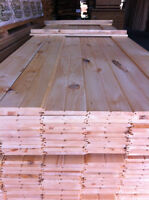 planche de pin plané ou brut  mural plancher bon prix $