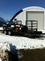 19 Ft Car trailer with dual axle electric brake and Tire rack
