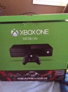 Xbox one + 2 games and headset