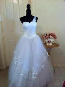 Deb,Debutante, Wedding WHITE dress Ferntree Gully Knox Area Preview