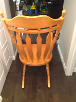 chaise berçante bois