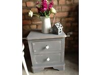 Shabby Chic Grey Bedside Table