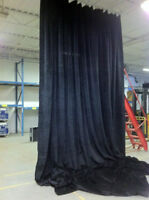 21 oz Black Velour Drape with Grommets