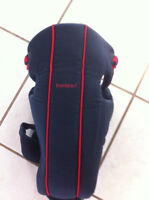 Baby Bjorn Classic Infant Carrier, Navy Blue w/Red Stripe