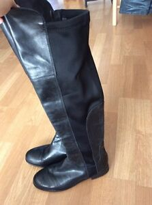 FRANCO SARTO tall leather riding boots size6.5 London Ontario image 3