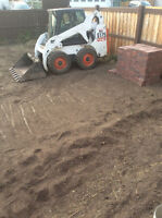 Bobcat Services - Grading, post holes, removal