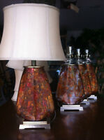 Set of $ table lamps.