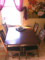 Great table and four sturdy chairs