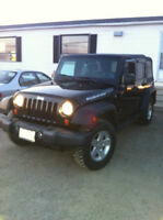Black 2007 Jeep Wrangler Rubicon Unlimited