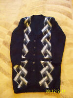 Women's black jacket, contains wool, large size