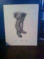 "limited issue ""high browns"" art sketch by artist Killan"