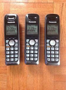 Panasonic Cordless Phone 6.0 Three (3) Handsets KX-TG6511C