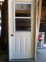 Exterior door with jamb and window