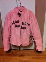 Women's ICON Leather Motorcycle Jacket New With Tags