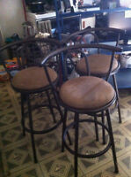3 nice Bar or Counter Chairs for sale