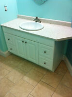 Bathroom vanity, sink and faucet, great condition