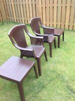 Patio Chairs and Side Tables