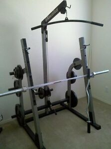 Nautilus Half Rack with Hi Lo Pulley system