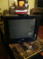 tv and shelf