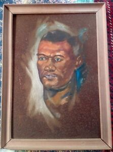 Oil Painting study of Oxley Agard Jamaican Boxer 17 by 22