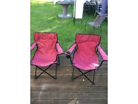 Two folding / portable chairs