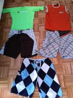 Lot 3 maillots de bain et 2 chandail surf Billabong O'neill Med