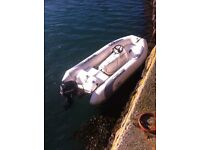 4 meter rib boat with trailer and 15hp outboard