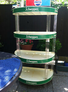 Schweppes shelving unit.