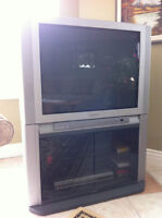 32 Inch Toshiba TV and Swivel Stand