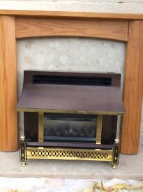 Gas fire . Marble surround ..