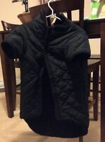 Black quilted dog coat - price reduced!