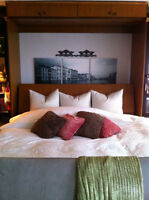 """""""Custom Designed"""" KING SIZE wall bed with overhead storage"""