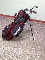 Sac de golf et bâtons homme gaucher.