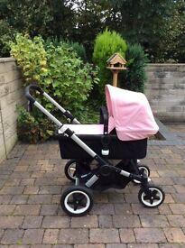 Bugaboo Buffalo Pink Stroller and Pram