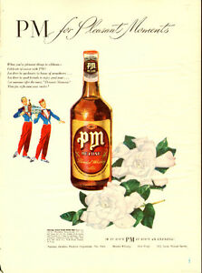 1947 full-page (10 ¼ x 14) magazine ad for PM Deluxe Whiskey