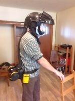 Full face welding mask or self contin bran thing mask