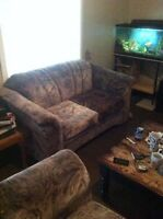 Matching couch loveseat and chair