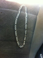 BRAND NEW  12mm wide 26 inch long chain with matching bracelet