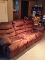 Double Recliner Sofa and Rocking Recliner