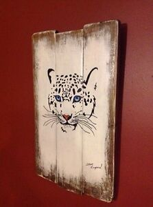 New snow leopard wall plaque